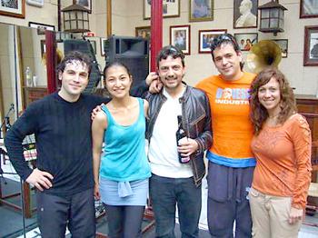 2007年 アンドレス・ペーニャ、ピラール・オガジャと